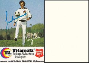 Beckenbauer, 1974, Vitamalz 'Haakebeck Brauerei AG, Bremen', Dank an SF Norbert