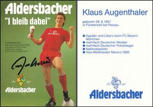 Augenthaler, 1986, Aldersbacher, Karte 1
