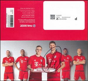 FanShop, 2015, Geburtstags-Gutschein, signiert Müller im März 2019