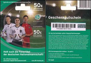 DFB, 2010, 'DFB-Geschenkgutschein 50 EUR'
