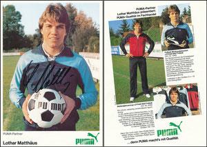 Matthäus, 1984, Puma, A5-Karte, mit 'Puma-Partner'