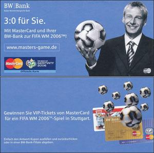 Klinsmann, 2006, 'Mastercard' BW Bank, Klappflyer