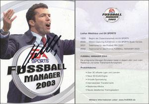 Matthäus, 2002, EA-Sports 'Fußball Manager 2003'