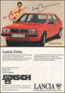 Beckenbauer, 1980, Lancia, Motiv 1, 'Jänsch GmbH'