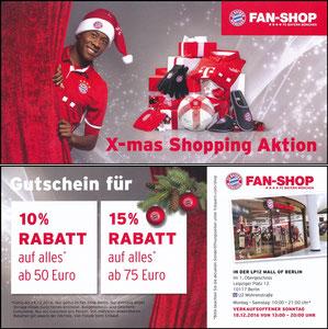 FanShop, 2016, Gutschein 'x-mas Schopping'