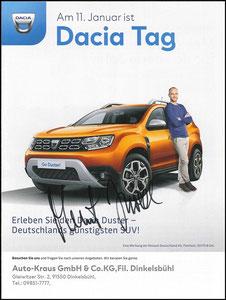 Scholl, 2020, Dacia 'Dacia Tag, Autohaus Kraus, A4, Dank an SF Robert