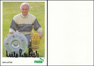 Lattek, 1986, Puma, OHNE Beschriftung am rechten Rand, Rückseite blanko