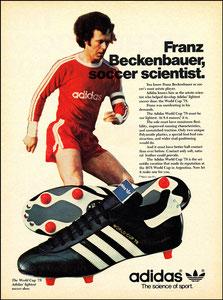 Beckenbauer, 1978, Adidas 'World Cup '78', Zeitungsanzeige