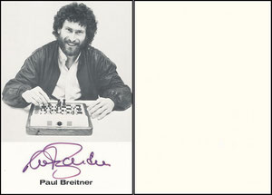 Breitner, 1988, Mephisto Schachkomputer, Großkarte