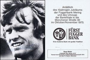 Maier, 1975, Fürst Fugger Bank, Dank an SF Norbert