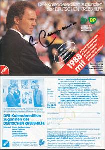 Beckenbauer, 1988, Deutsche Krebshilfe