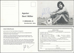 Müller, Gerd, 1974, Münzsammlung WM 1974, Klappkarte