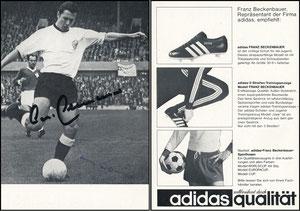 Beckenbauer, 1966, Adidas 'Repräsentant', Motiv 2, Rückseite drei Fotos
