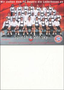 Mannschaftskarte 2009, 'Spieth & Wensky' , A4