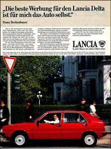 Beckenbauer, 1980, Lancia, Zeitungsanzeige, Motiv 2