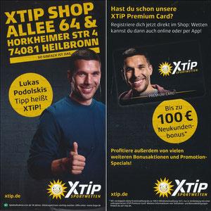 Podolski, 2018, XTip 'XTip Shop Allee 64 - Heilbronn', REGINALKARTE