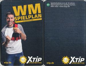 Podolski, 2018, XTip 'WM Spielplan', Klein-Folder