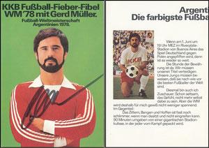 Müller, Gerd, 1978, 'KKB-Fußball-Fibel', KEINE Autogrammkarte, sondern aus Buch-Umschlag