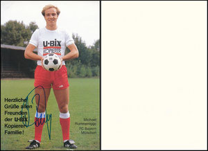 Rummenigge, Michael, 1982, Ubix-Kopierer, weißes Trikot