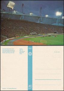 Postkarte, 1972, Olympiastadion, Olympische Spiele, Anco-Karte