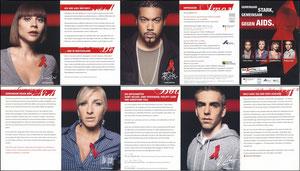 Lahm, 2007, Welt-Aids-Tag 2007, Klappkarte