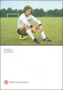 Breitner, 1974, Sigloch, Rückseite ohne mittlerem Werbetext, mit Breitner-Adresse, Dank an SF Klaus