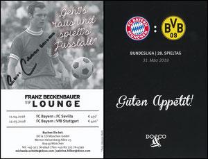 """Allianz Arena, """"Franz-Beckenbaer-Lounge"""", 26. Spieltag, 31.03.2018"""