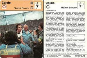 'Helmut Schön', Italien, 1978, 833-30, Dank an SF Hermann