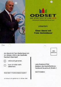 Beckenbauer, 2004, Oddset 'Ein Abend in Ransbach-Baumbach', Dank an SF Norbert