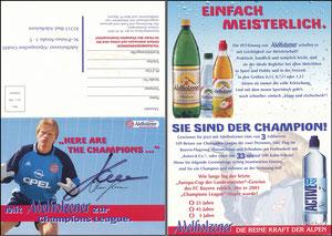 Kahn, 2001, Adelholzener 'Champions-League', Klappkarte
