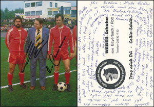 Gemeinschaftskarte, 1976, Beckenbauer-Müller, Weber Schuhe