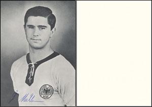 Müller, Gerd, 1966, Spielerkarte DFB