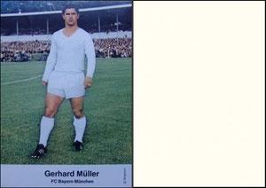 Bergmann, 1969, Gerd Müller, Rückseite blanko, Dank an SF Georg