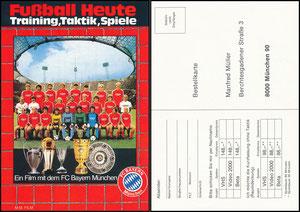 Mannschaftskarte 1982, Film 'Fußball heute'