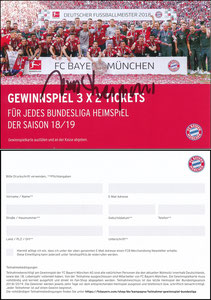 FanShop, 2018, Gewinnspiel 'Heimspiel', sign. Heynckes am 18.10.2019