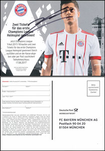 FanShop, 2017, Lewandowski CL-Trikot, signiert Lewandowski im März 2019