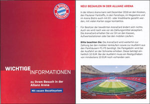 Allianz Arena, 2019, Informationsflyer