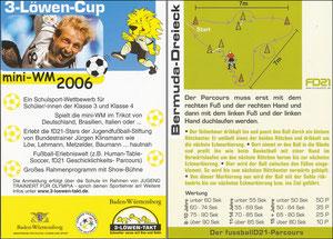 KLinsmann, 2006, 3-Löwen-Cup 'Mini WM 2006', Kleinkarte, Motiv 2