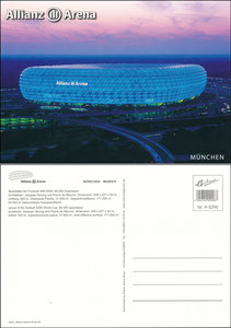 Allianz Arena, um 2010, Shop-Postkarte