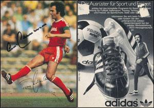 Beckenbauer, 1976, Adidas 'Der Ausrüster für Sport und Freizeit'