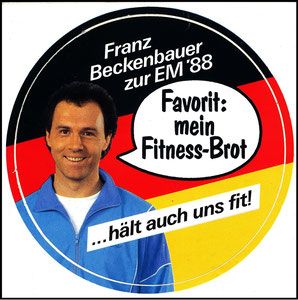 Beckenbauer, 1988, Fitness-Brot, Aufkleber