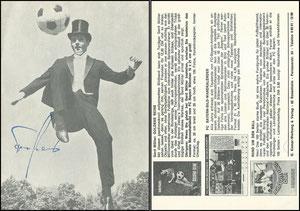 Beckenbauer, 1968, 'Gentleman am Ball', Klappkarte (nicht komplett), Rückseite 2, Dank an SF Michael