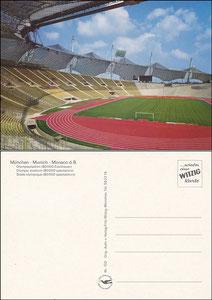 Postkarte, 1990er Jahre, Olympiastadion-München, Witzig-Karte