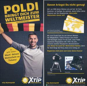 Podolski, 2018, XTip 'Poldi bringt Dich zum Weltmeister'