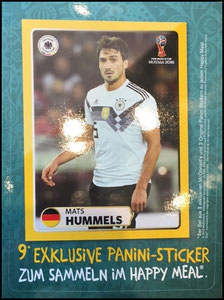 DFB, 2018, Panini-Aufkleberkarte, Hummels, Dank an SF Norbert