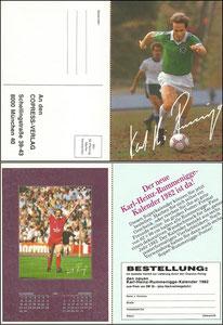 Rummenigge, 1982, 'Rummenigge-Kalender', Klappkarte, Dank an SF Michael