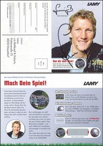 Schweinsteiger, 2006, Lamy, Klappkarte