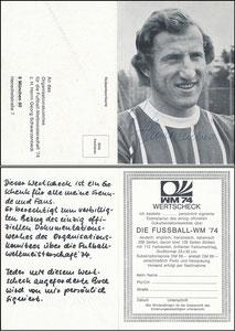 Schwarzenbeck, 1974, WertScheck WM-Buch, Klappkarte