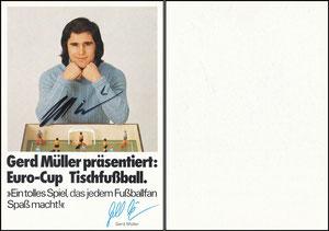 Müller, Gerd, 1972, Euro-Cup Tischfußball