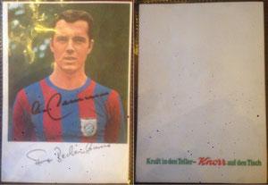 Beckenbauer, 1969, Knorr, mit 'Münze', Dank an SF Norbert